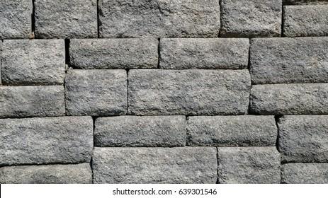 Grey Stone Wall Brick Background Texture