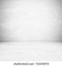Grey studio background, Empty white cement, concrete floor room, background, backdrop, poster, banner, interior design, product display montage, mock up background
