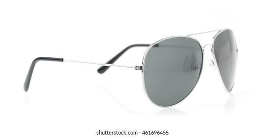 grey sunglasses isolated on white background
