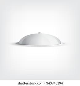 Grey tray, graphic design stylish concept