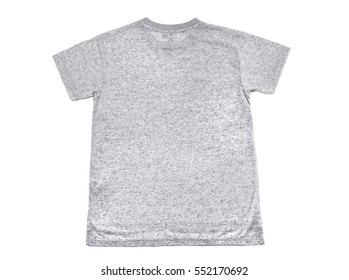 Grey T-shirt isolated on white