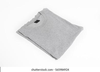 grey t-shirt on white background