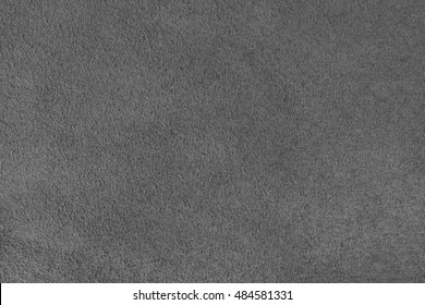 Grey velour texture. Horizontal close up