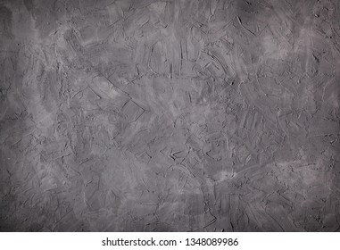 Grey wall background. Dark texture.