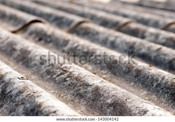 Grey waved asbestos roof