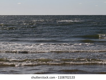 Grey wavy Baltic sea water.