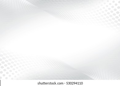 Grey white halftone modern bright art. Blurred pattern raster effect background. Abstract creative graphic template. Business style.