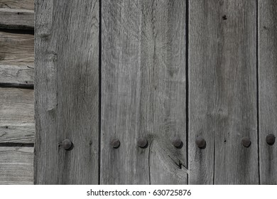 Grey wooden wall  detail