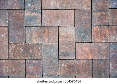 grey-red  paving slabs, background