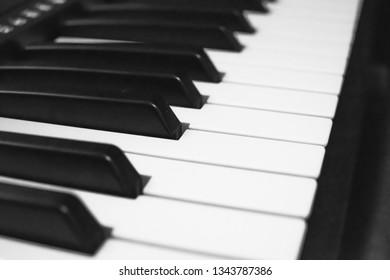 Greyscale piano keys