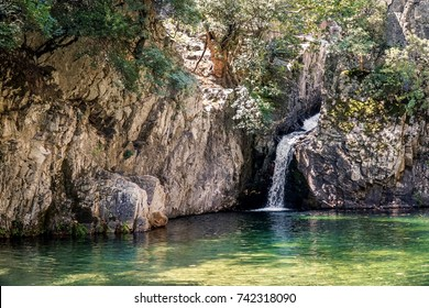 Gria Vathra waterfalls in Samothraki island