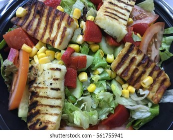 Grid cheese salad