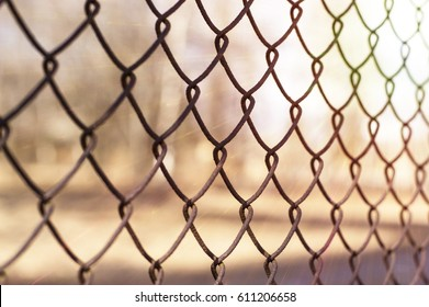 Grid fence sunny weather