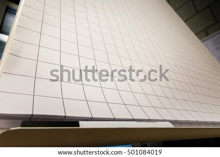Grid Paper Flipchart Large Sheets Brainstorming Stock Photo Edit