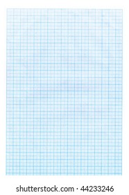 Grid paper texture. Blue grid or graph paper background.
