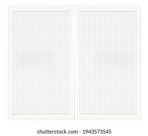 a grid patten inner paper of a diary note
