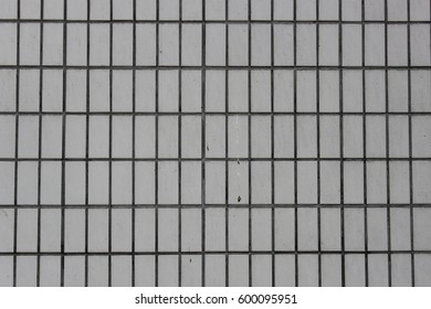 Grid tile. White rectangle shape tile texture