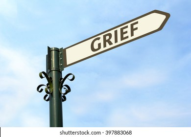 GRIEF WORD ON ROADSIGN