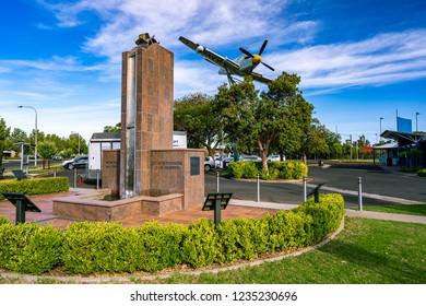 Griffith, NSW, Australia - Nov 3, 2018: Fairey Firefly Monument