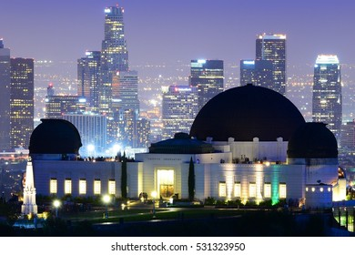 Griffith Observatory with Downtown Los Angeles