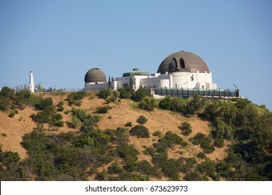Griffith Observatory in Griffith Park, Los Angeles California. The Griffith Observatory was designated a historic monument in 1976 and is free to visit.