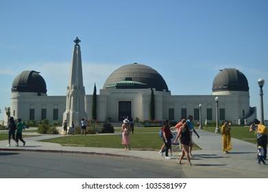 Griffith Observatory In The South Area Of Mountain Hollywood. July 7, 2017. Hollywood Los Angeles California. USA. USES.