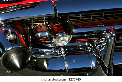 Grill of a '57 Chevy