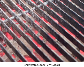 Grill iron and charcoal for BBQ or seafood