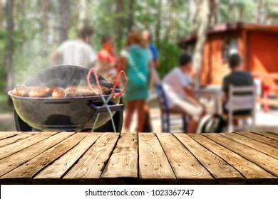 grill and landscape