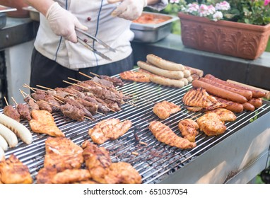 Grill meat and BBQ