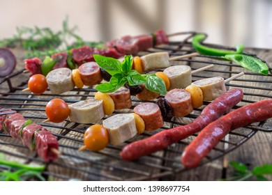 Grill meat preparations for outdoor.