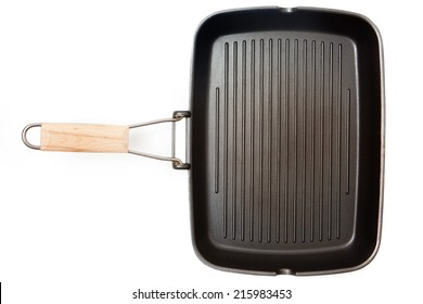 Grill pan isolated on white background