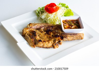 grill pork chop with spicy chili pippin