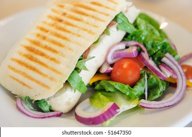 Grill Sandwich (Panini) with Salad