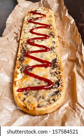 "Grill sandwich - ""zapiekanka"" - Polish traditional fast food"