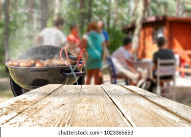 grill and table