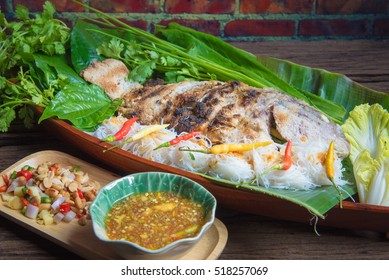 Grill Tilapia Fish With Vegetables