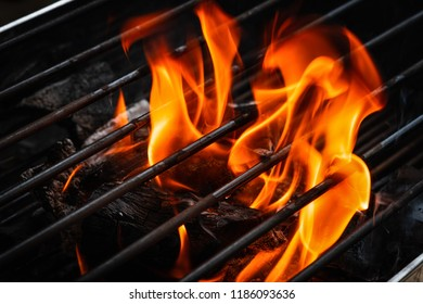 grille and fire