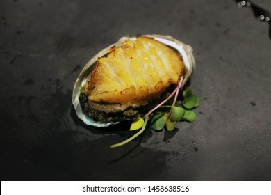 Grilled Abalone with shell. junbok gui is grilled.