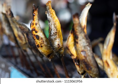 Grilled Ayu Fish skewer at countryside of Japan