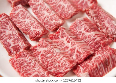 Grilled beef on a plate