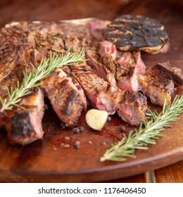Grilled beef rib