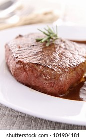 grilled beef and sauce