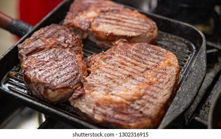 Grilled beef sirloin steak