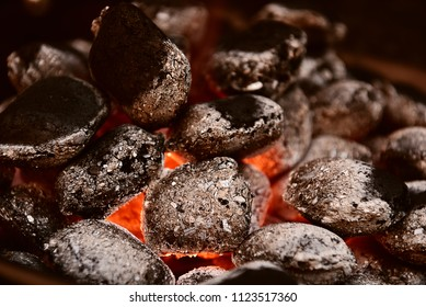 grilled charcoal texture in a barbecue