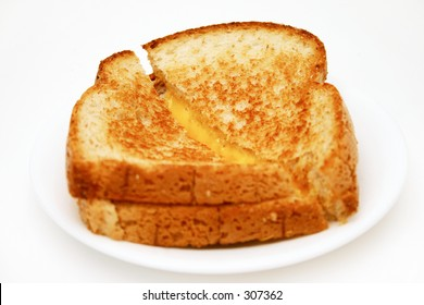 Grilled cheese isolated