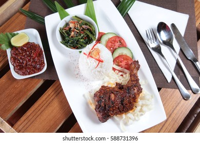 Grilled chicken with delicious sambal asian style