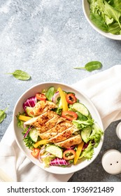 Grilled Chicken fillet with salad. Healthy food, keto diet, diet lunch concept - Shutterstock ID 1936921489
