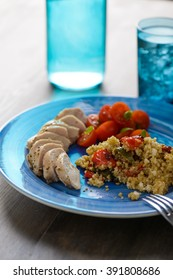 Grilled chicken with healthy quinoa