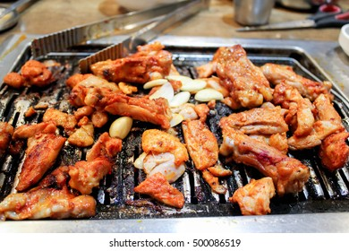grilled chicken with red sauce